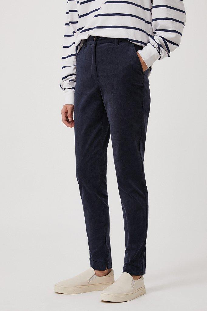 Вельветовые зауженные женские брюки, Модель FAB110184, Фото №3
