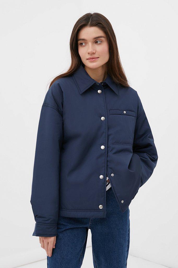Утепленная женская куртка свободного кроя, Модель FAB110194, Фото №1