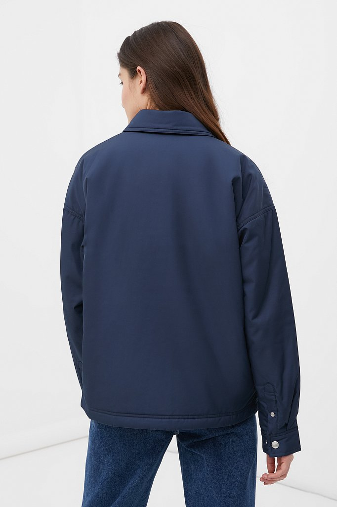 Утепленная женская куртка свободного кроя, Модель FAB110194, Фото №4