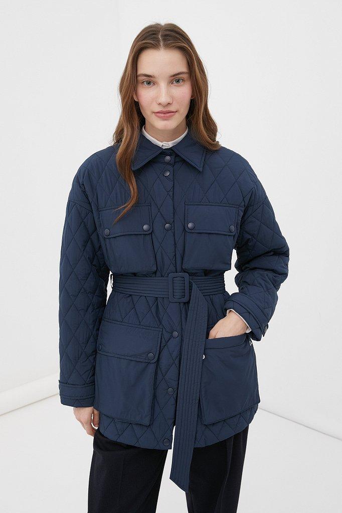 Женская утепленная куртка в рубашечном стиле, Модель FAB110199, Фото №1