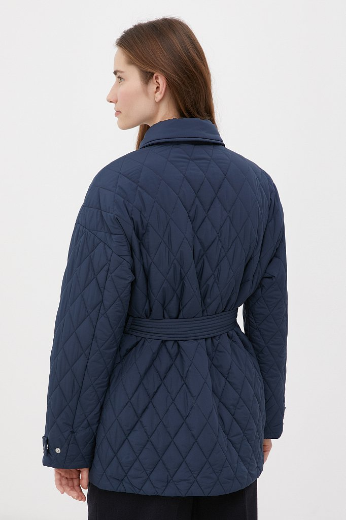 Женская утепленная куртка в рубашечном стиле, Модель FAB110199, Фото №4