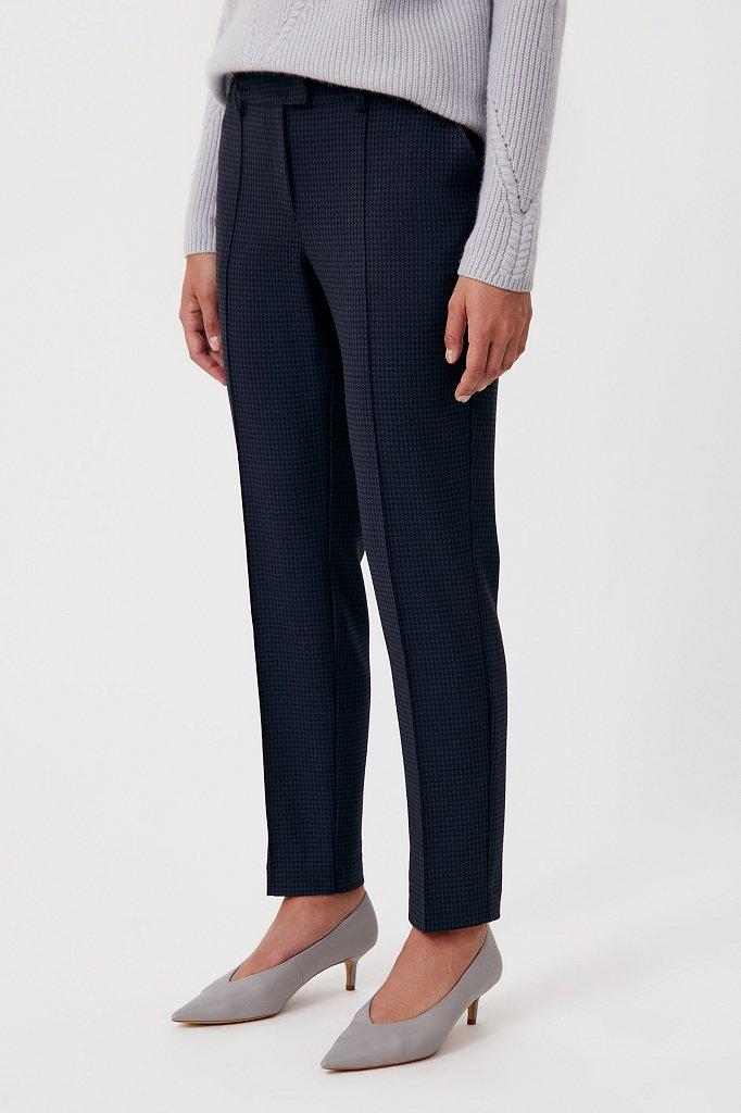 Женские брюки на средней посадке с мелким принтом, Модель FAB11020, Фото №3