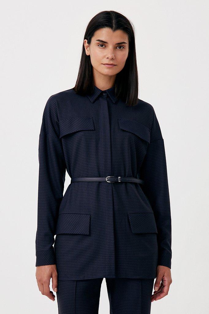 Удлиненный женский жакет из смесовой ткани, Модель FAB11021, Фото №1