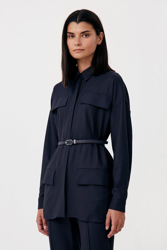Удлиненный женский жакет из смесовой ткани, Модель FAB11021, Фото №3