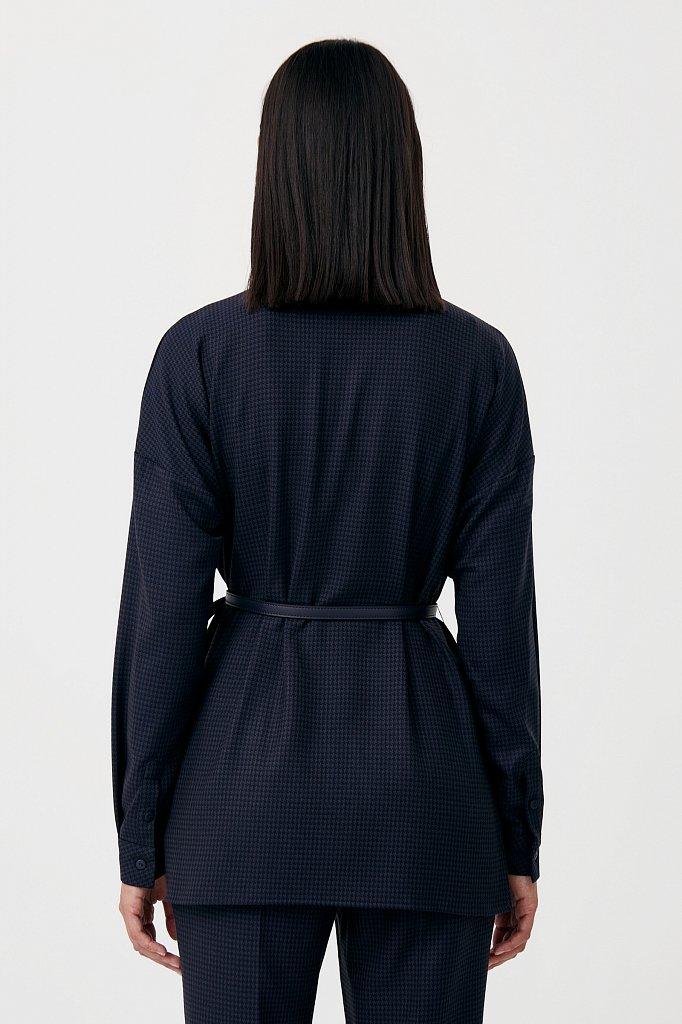 Удлиненный женский жакет из смесовой ткани, Модель FAB11021, Фото №4
