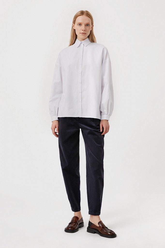 Вельветовые брюки женские кроя багги, Модель FAB11049, Фото №1