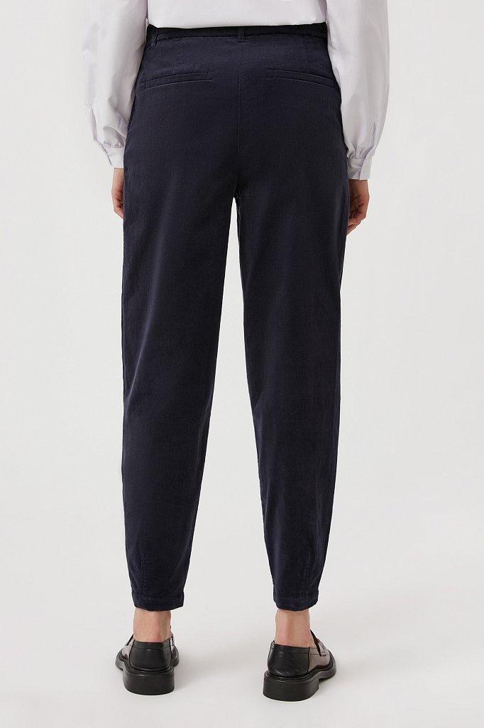 Вельветовые брюки женские кроя багги, Модель FAB11049, Фото №4