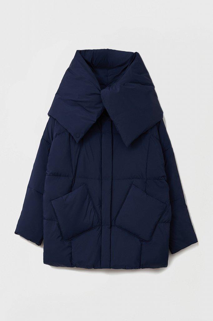 Оверсайз пуховик женский фасона «одеяло», Модель FAB11093, Фото №8