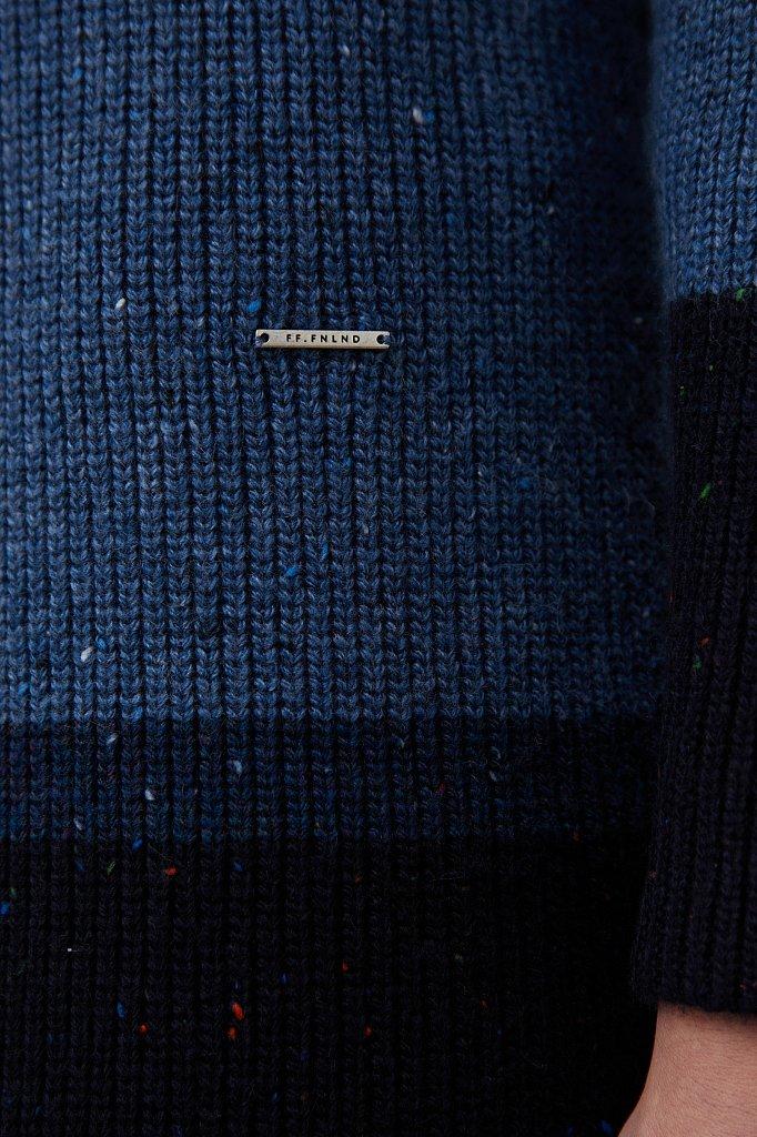 Платье прямого кроя с шерстью и принтом в полоску, Модель FAB11108, Фото №5