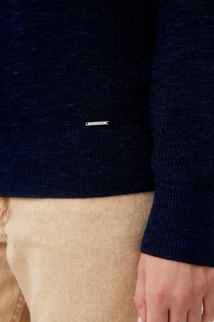 Женский базовый пуловер прямого силуэта с шерстью, Модель FAB111114, Фото №5