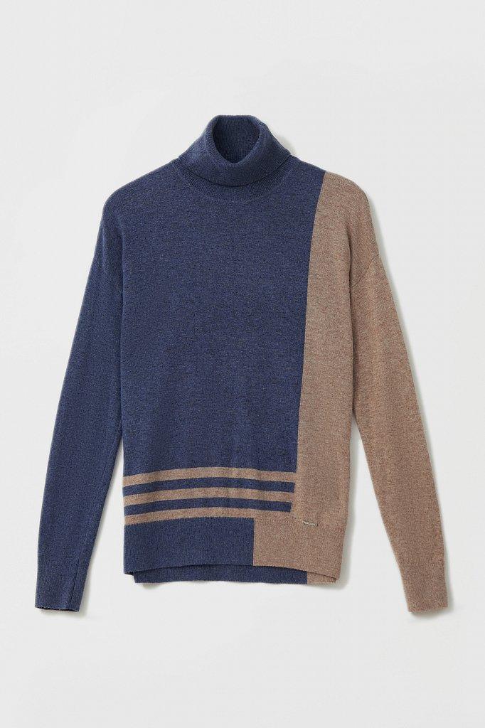 Женский свитер прямого кроя с шерстью, Модель FAB11132, Фото №7