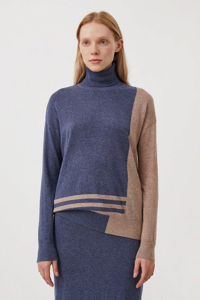 Женский свитер прямого кроя с шерстью, Модель FAB11132, Фото №1