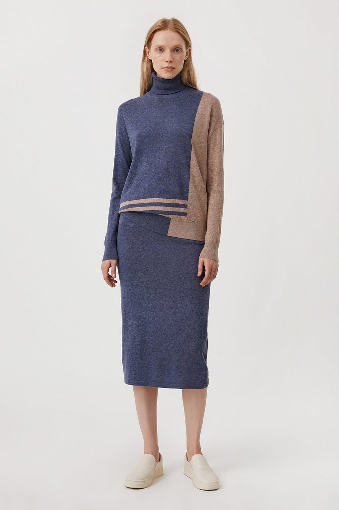 Женский свитер прямого кроя с шерстью, Модель FAB11132, Фото №2