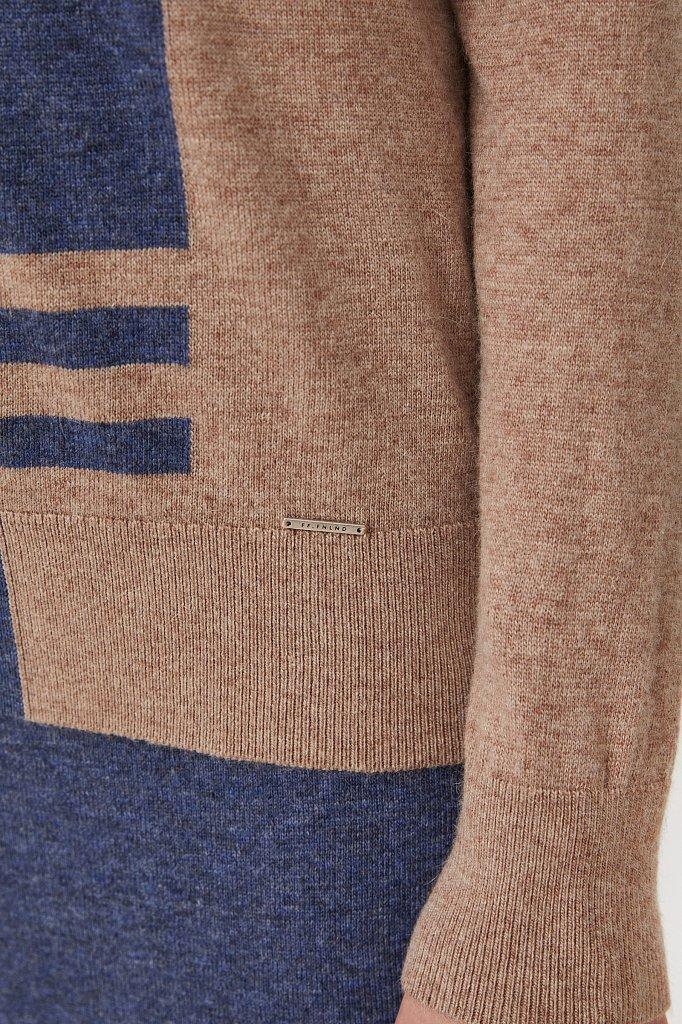Женский свитер прямого кроя с шерстью, Модель FAB11132, Фото №5