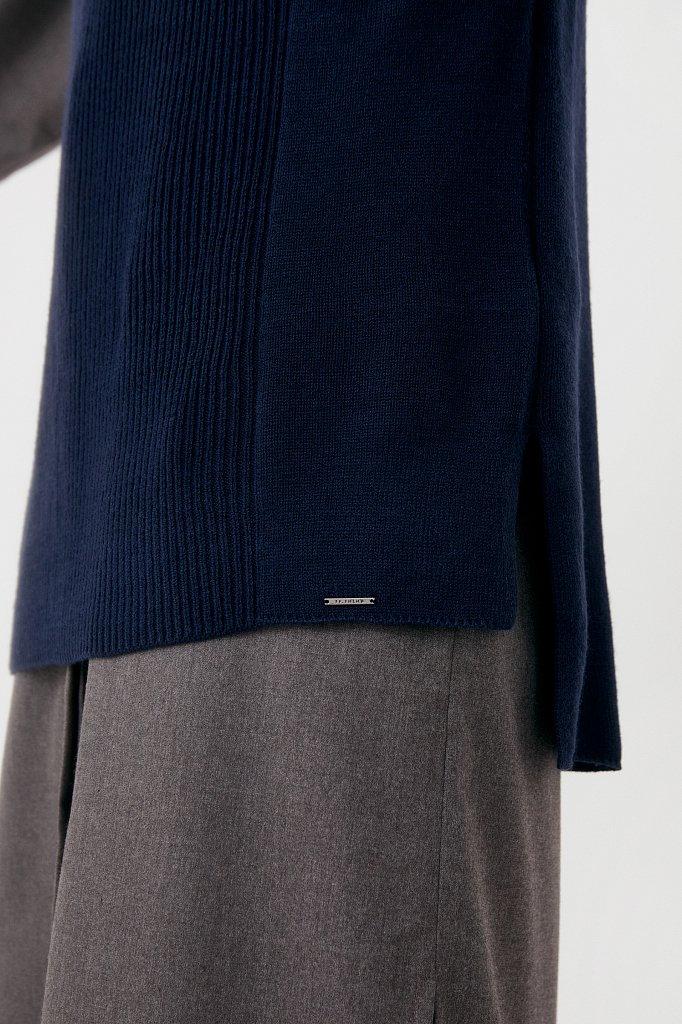 Женский трикотажный жилет с шерстью с воротником, Модель FAB11151, Фото №5
