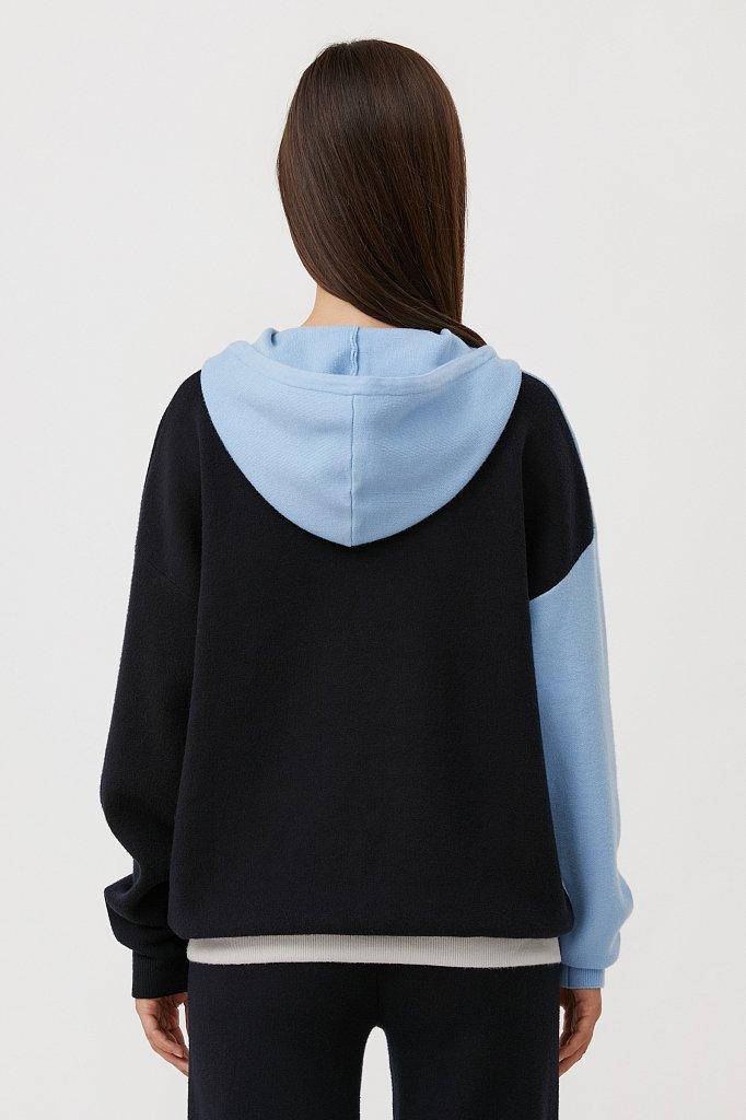 Свободное женское худи в стиле color block, Модель FAB11183, Фото №4