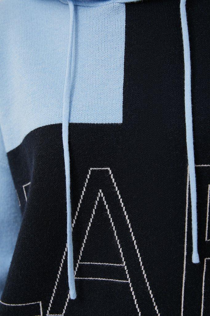 Свободное женское худи в стиле color block, Модель FAB11183, Фото №5