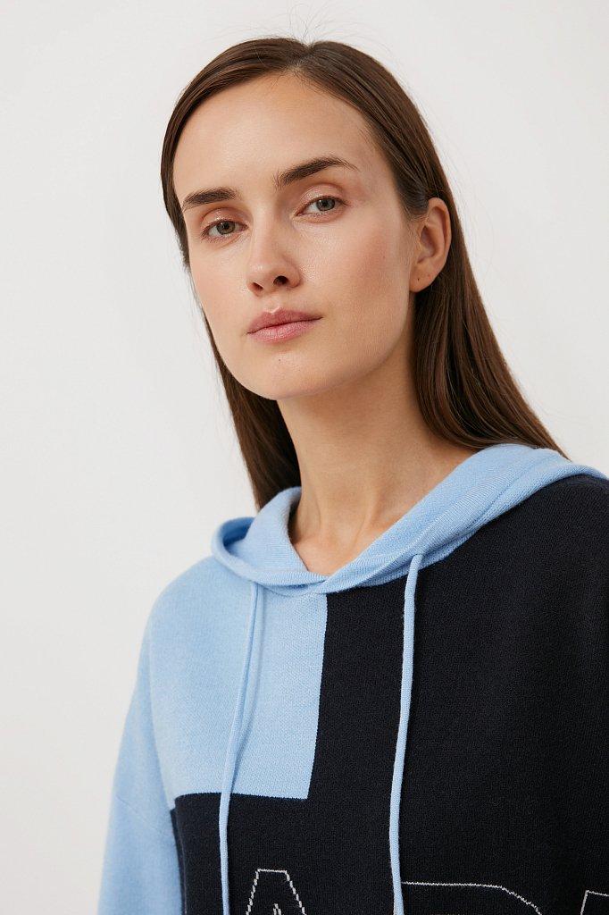Свободное женское худи в стиле color block, Модель FAB11183, Фото №6