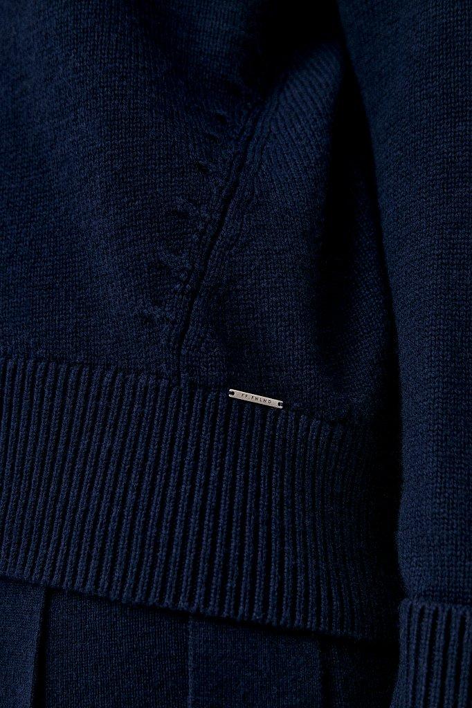 Свитер женский оверсайз с шерстью и кашемиром, Модель FAB11184, Фото №6