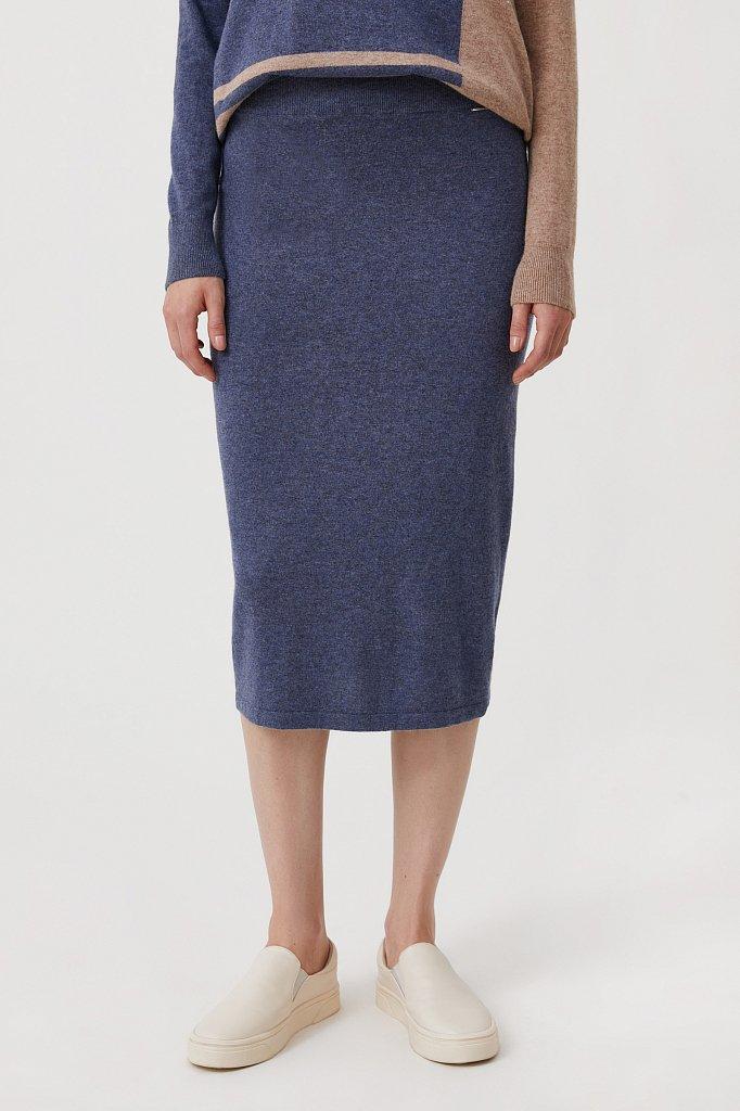 Женская трикотажная юбка с шерстью и ангорой, Модель FAB11188, Фото №2