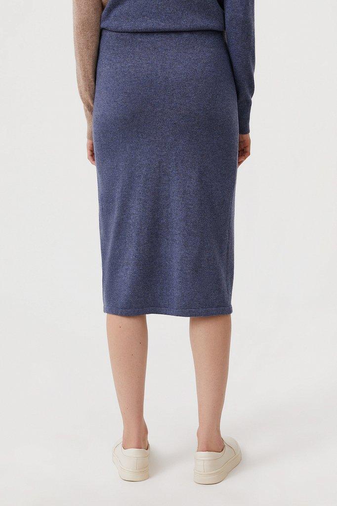 Женская трикотажная юбка с шерстью и ангорой, Модель FAB11188, Фото №4