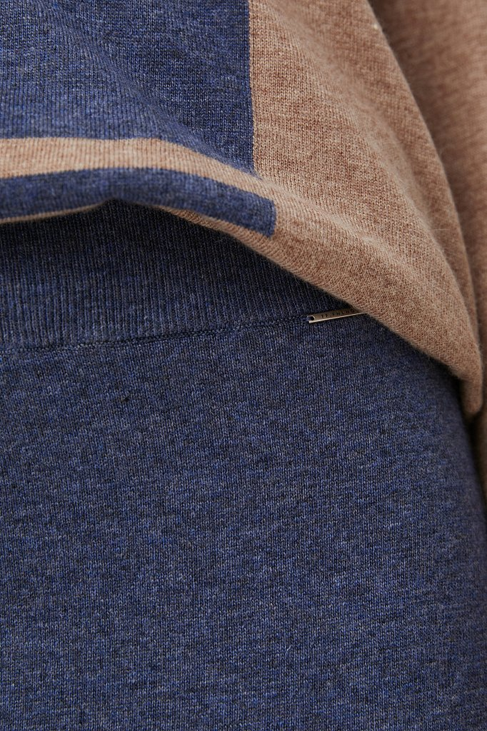 Женская трикотажная юбка с шерстью и ангорой, Модель FAB11188, Фото №5