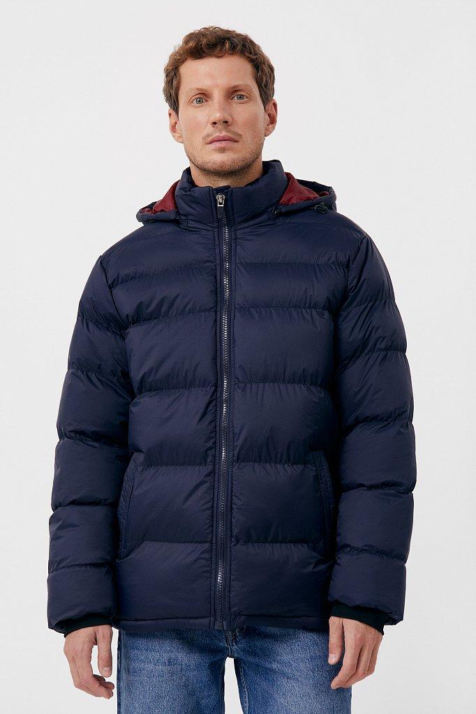 Куртка мужская свободного кроя с капюшоном, Модель FAB210108C, Фото №1