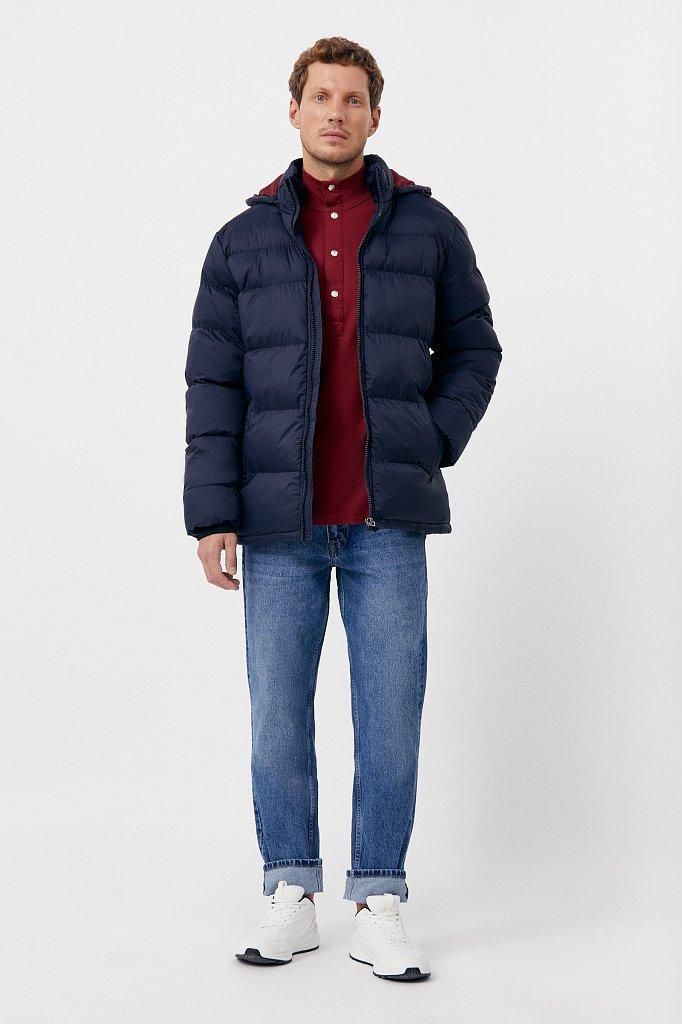 Куртка мужская свободного кроя с капюшоном, Модель FAB210108C, Фото №2