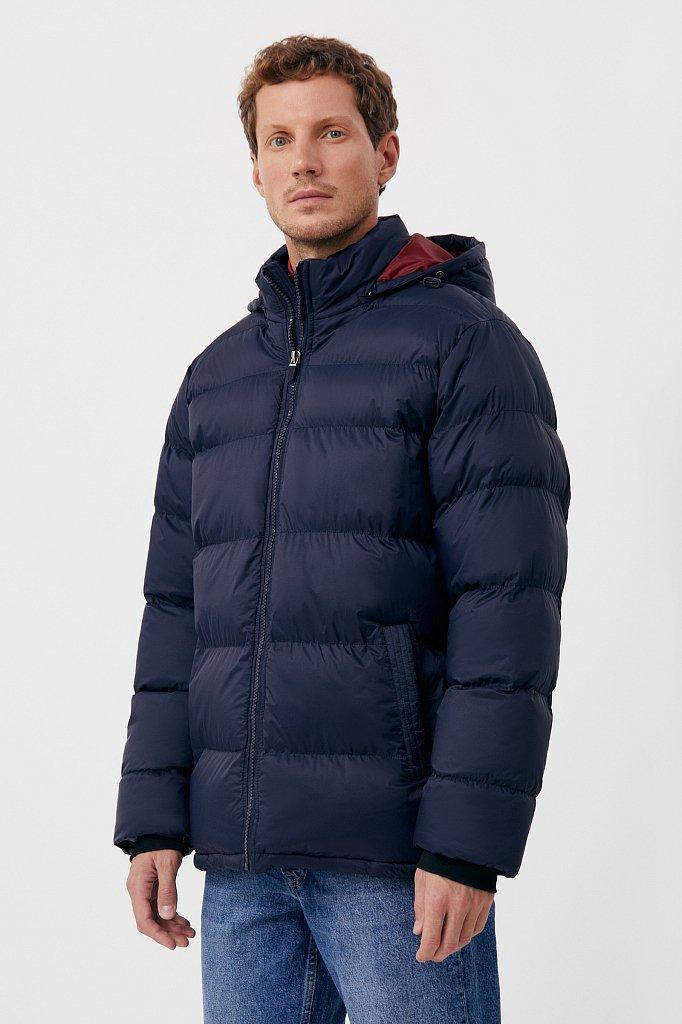 Куртка мужская свободного кроя с капюшоном, Модель FAB210108C, Фото №3