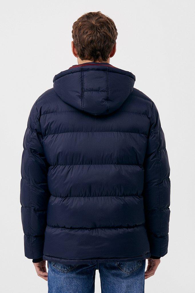 Куртка мужская свободного кроя с капюшоном, Модель FAB210108C, Фото №4