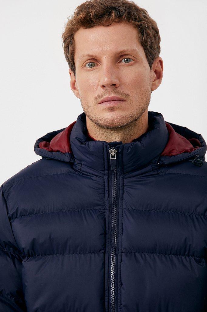 Куртка мужская свободного кроя с капюшоном, Модель FAB210108C, Фото №6