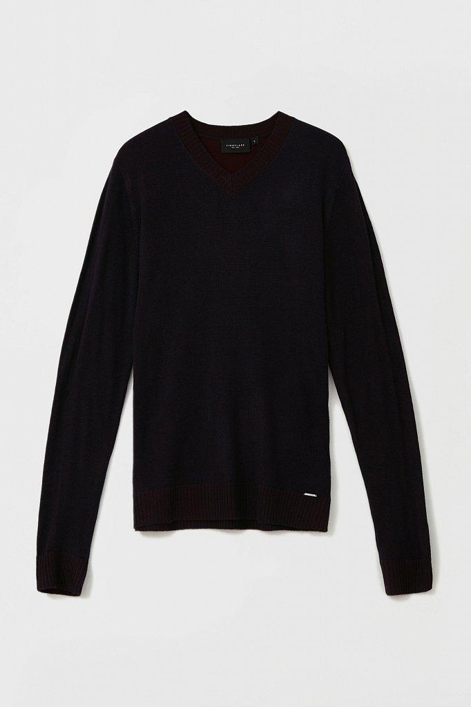 Пуловер мужской прямого силуэта с шерстью, Модель FAB21103, Фото №7