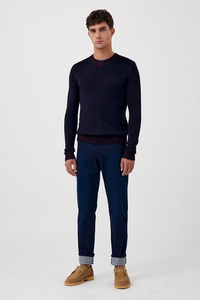 Пуловер мужской прямого силуэта с шерстью, Модель FAB21103, Фото №2