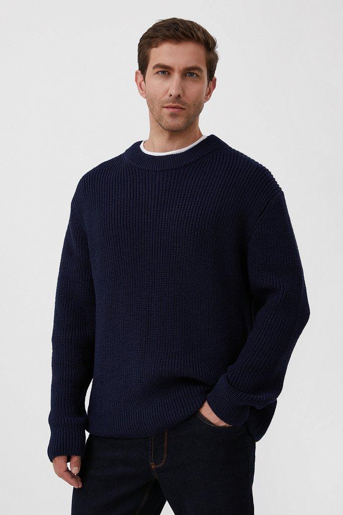 Трикотажный мужской джемпер с шерстью оверсайз, Модель FAB21133, Фото №1