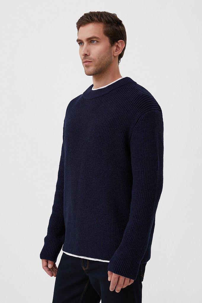 Трикотажный мужской джемпер с шерстью оверсайз, Модель FAB21133, Фото №3