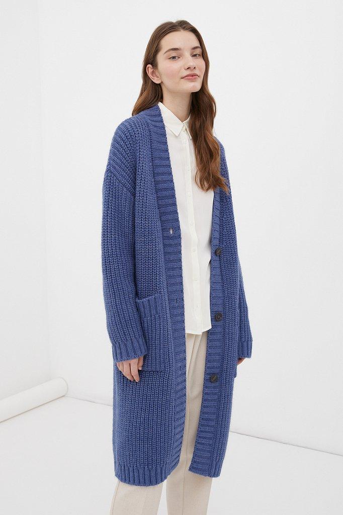 Пальто женское с шерстью, Модель FAB111104, Фото №3