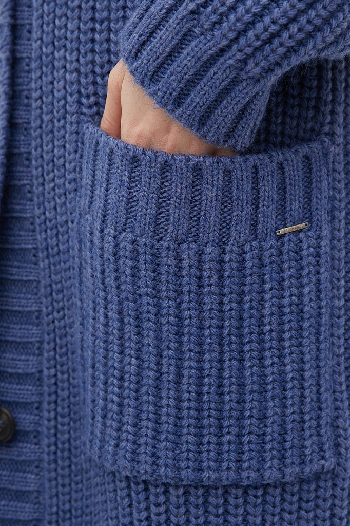 Пальто женское с шерстью, Модель FAB111104, Фото №6