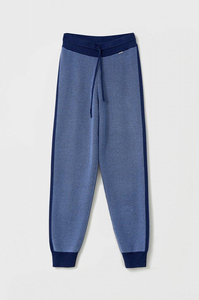 Жаккардовые брюки женские с шерстью, Модель FAB11146, Фото №6