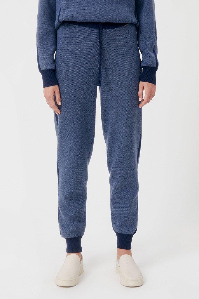 Жаккардовые брюки женские с шерстью, Модель FAB11146, Фото №2
