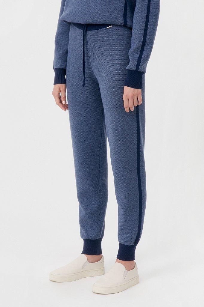 Жаккардовые брюки женские с шерстью, Модель FAB11146, Фото №3