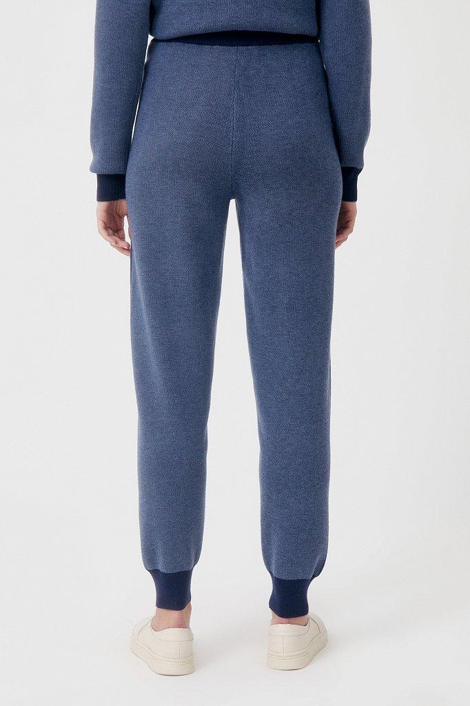 Жаккардовые брюки женские с шерстью, Модель FAB11146, Фото №4