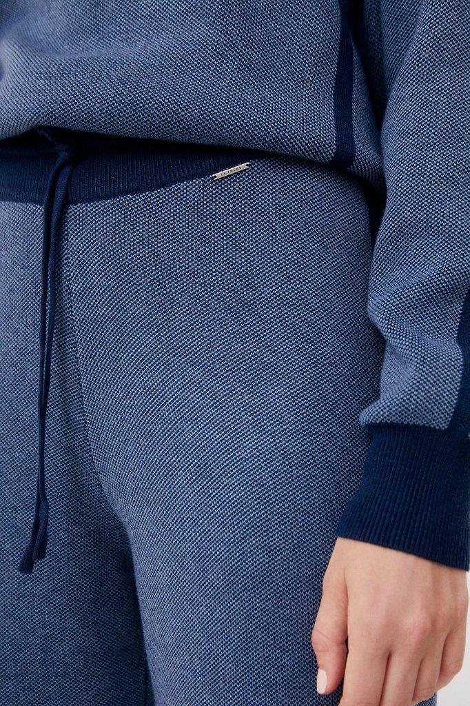 Жаккардовые брюки женские с шерстью, Модель FAB11146, Фото №5