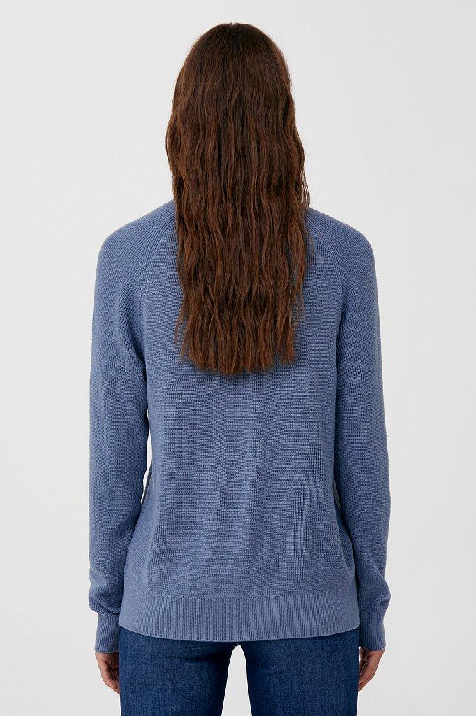 Женский свитер прямого силуэта с шерстью, Модель FAB11172, Фото №4