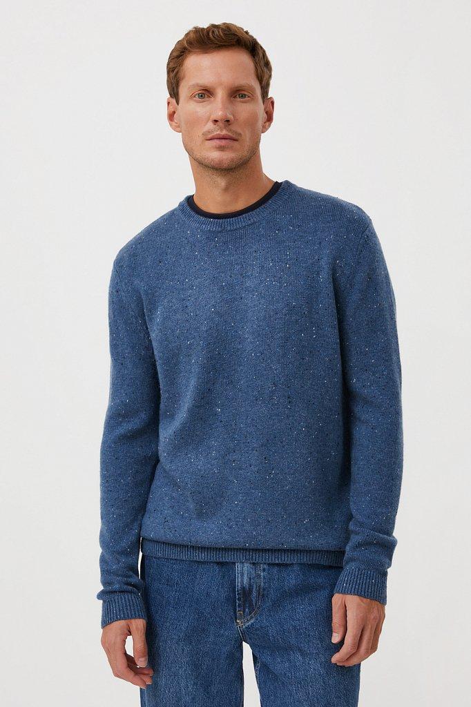 Джемпер мужской из мягкой смесовой ткани с шерстью, Модель FAB21140, Фото №1