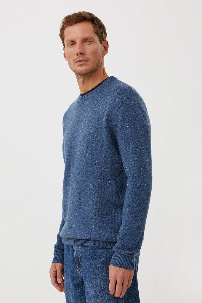 Джемпер мужской из мягкой смесовой ткани с шерстью, Модель FAB21140, Фото №3