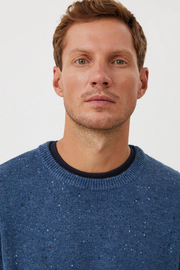 Джемпер мужской из мягкой смесовой ткани с шерстью, Модель FAB21140, Фото №6