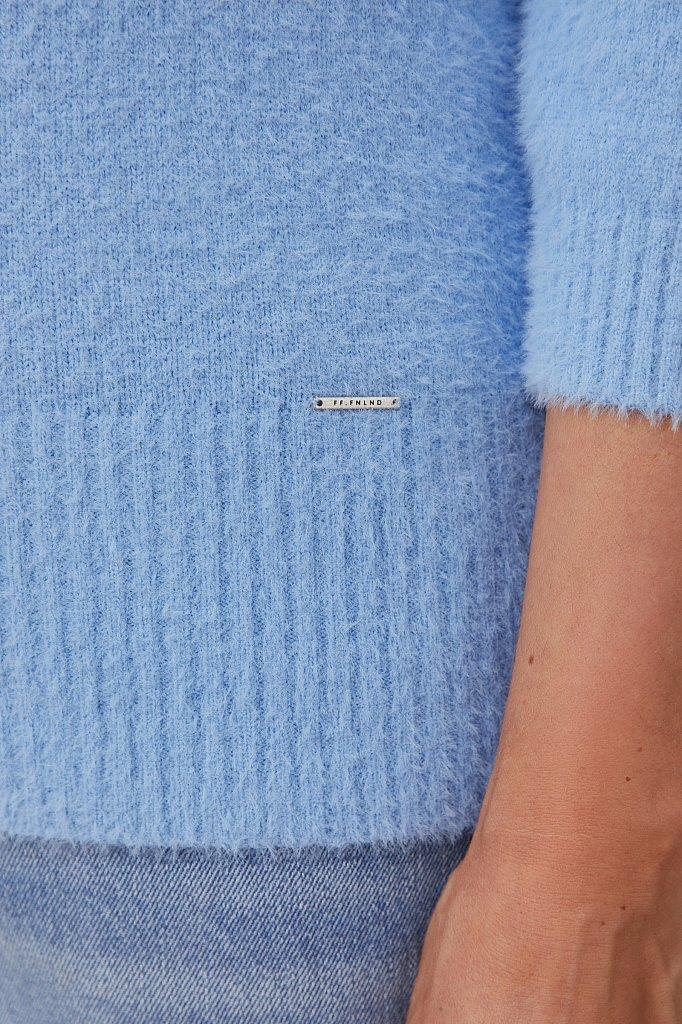 Женский джемпер из шелковистой пряжи с ворсом, Модель FAB11161, Фото №5