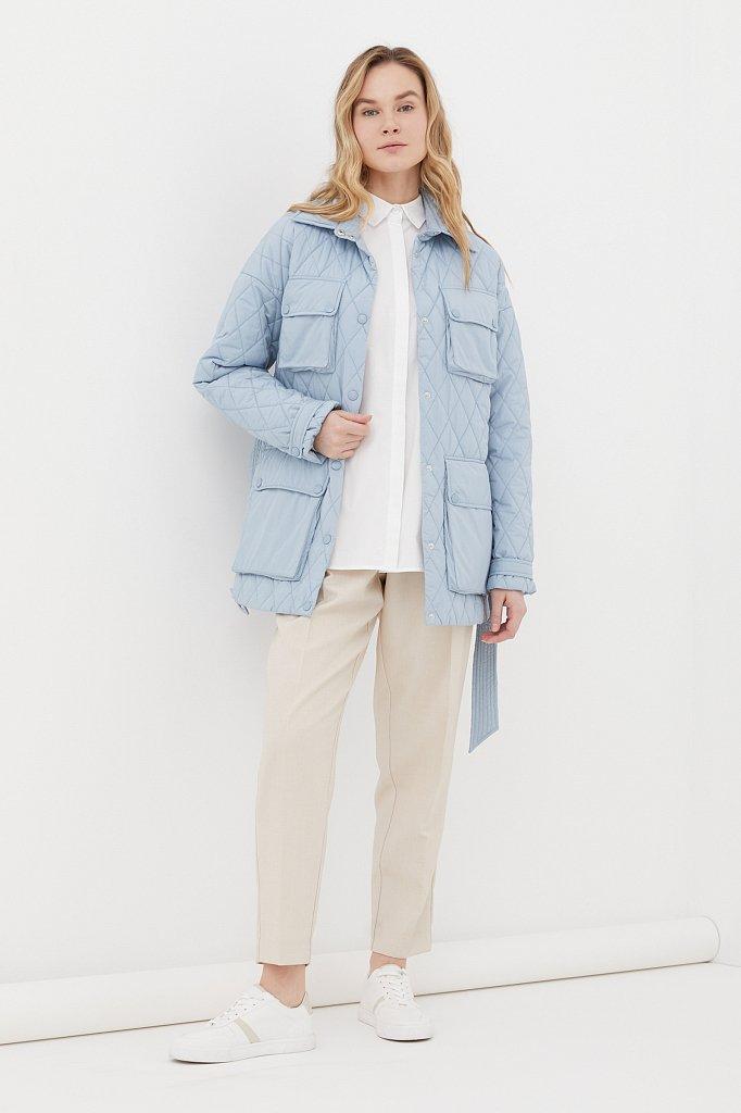 Женская утепленная куртка в рубашечном стиле, Модель FAB110199, Фото №2