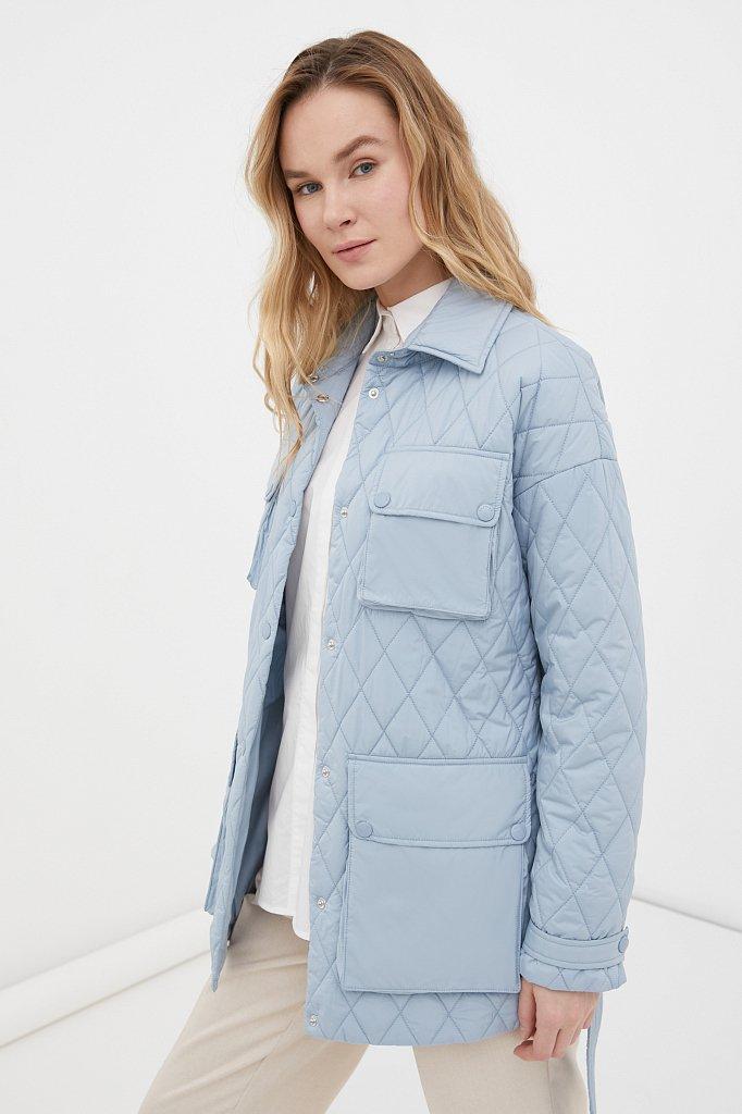 Женская утепленная куртка в рубашечном стиле, Модель FAB110199, Фото №3