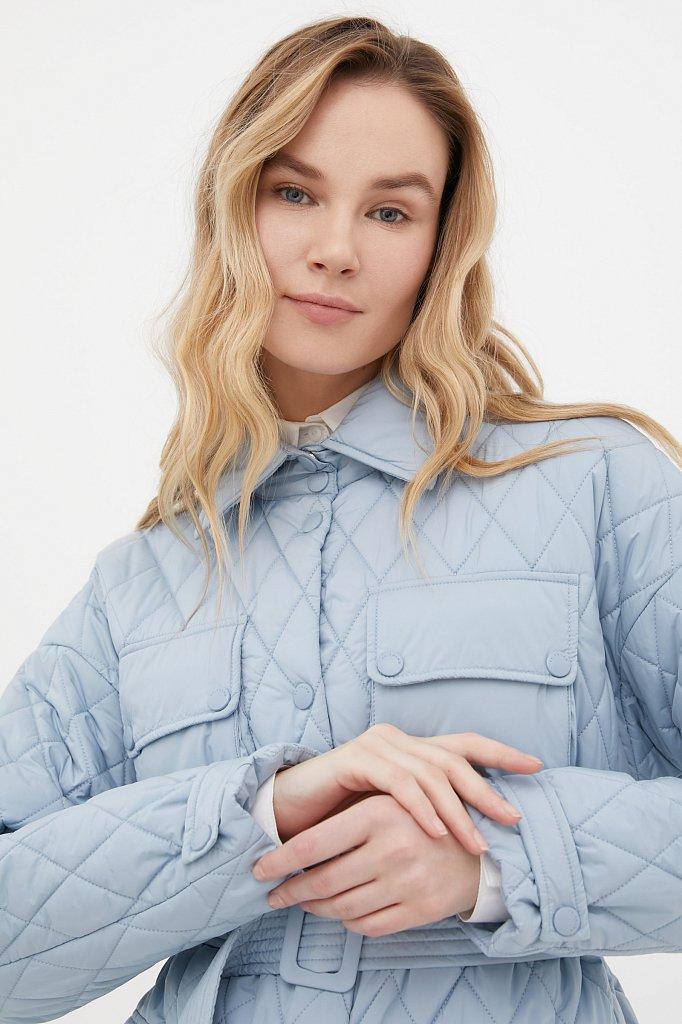 Женская утепленная куртка в рубашечном стиле, Модель FAB110199, Фото №5